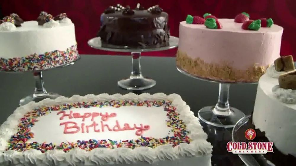 Marvelous Cold Stone Creamery Ice Cream Cake Tv Commercial Celebrate Personalised Birthday Cards Rectzonderlifede