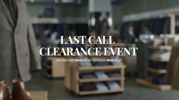 JoS. A. Bank Last Call Clearance Event TV Spot, 'Suits, Sportcoats and Dress Shirts' - Thumbnail 9