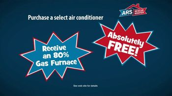 ARS Rescue Rooter Free Furnace Time TV Spot, 'Buy an Air Conditioner, Get a Furnace' - Thumbnail 6