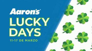 Aaron's Lucky Days TV Spot, 'La suerte está de tu lado' [Spanish]