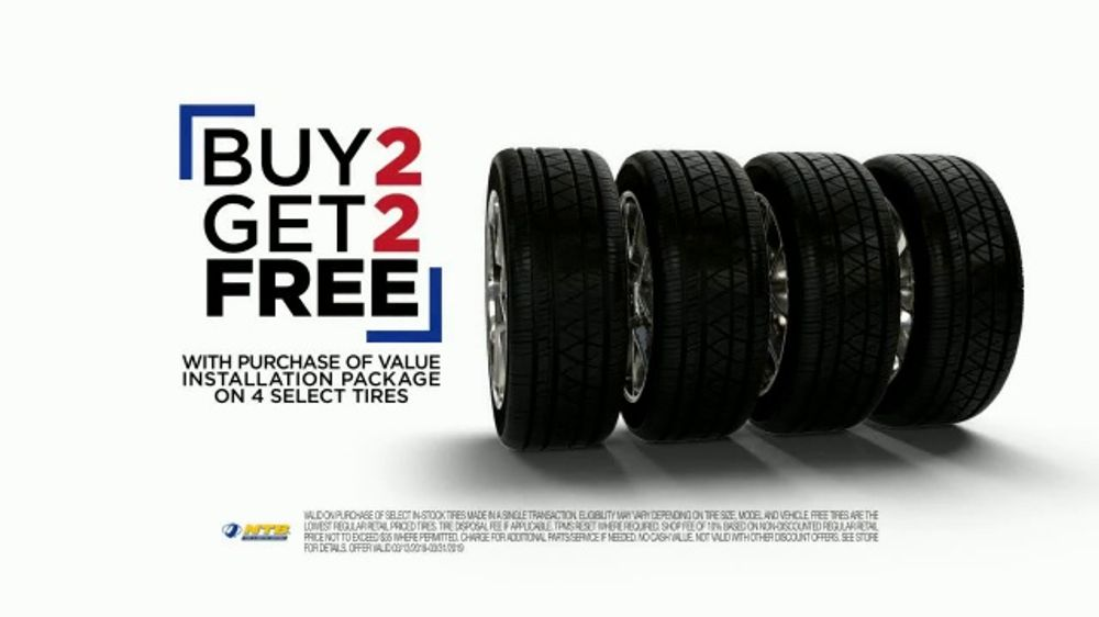 National Tire & Battery TV Commercial, 'Buy Two, Get Two: Rebate and Oil Change'