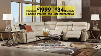 Anniversary Sale: Reclining Leather Sectional thumbnail