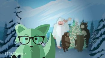 Mint Mobile TV Spot, 'Holidays: 3 Months of Wireless for $20: Yeti'