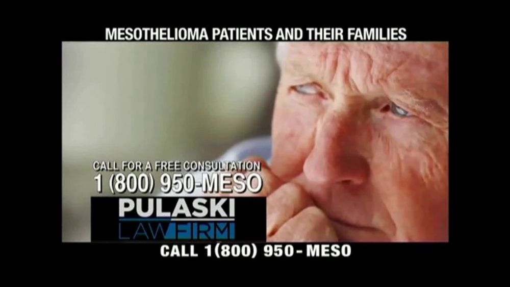 Pulaski Law Firm >> Pulaski Law Firm Tv Commercial Asbestos Related Mesothelioma Video