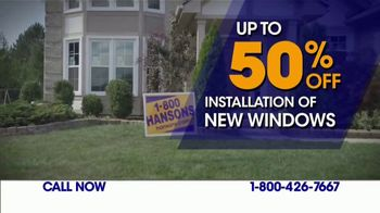 1-800-HANSONS Blowout Sale TV Spot, 'Up to 70 Percent Off Installation' - Thumbnail 1