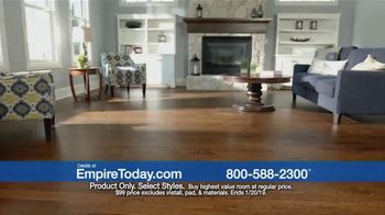 Empire Today $99 Sale TV Spot, 'Carpet, Hardwood and Laminate' - Thumbnail 3