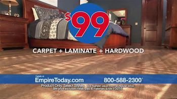 Empire Today $99 Sale TV Spot, 'Carpet, Hardwood and Laminate' - Thumbnail 4