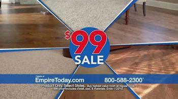 Empire Today $99 Sale TV Spot, 'Carpet, Hardwood and Laminate' - Thumbnail 7