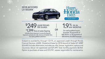 Happy Honda Days Sales Event TV Spot, '2018 Holidays: Six Million Dollar Man' [T2] - Thumbnail 9