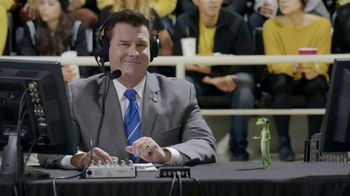 GEICO TV Spot, 'The Gecko Cheers During His First NCCA Basketball Game'