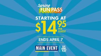 Main Event Entertainment Spring FunPass TV Spot, 'All You Can Play' - Thumbnail 5