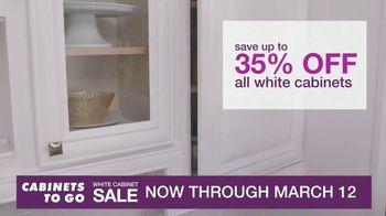 Cabinets To Go White Cabinet Sale TV Spot, 'Custom Kitchen' - Thumbnail 4