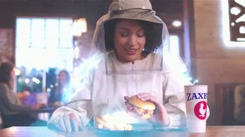 Zaxby's Honey Butter & Bacon Filet Sandwich TV Spot, 'Shazam!: Hand-Breaded Filet'