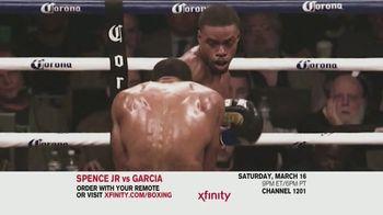 XFINITY TV Spot, 'World Welterweight Championship: Spence Jr. vs. Garcia' - Thumbnail 1