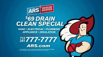 ARS Rescue Rooter $69 Drain Clean Special TV Spot, 'Clogged Toilet: Special' - Thumbnail 9