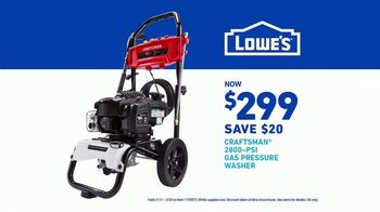 Lowe's TV Spot, 'Show Your Yard Who's Boss: Pressure Washer' - Thumbnail 9