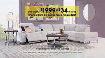 Rooms to Go Venta de Aniversario TV Spot, 'Seccional eléctrico' [Spanish] - Thumbnail 5