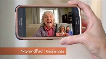 Consumer Cellular GrandPad TV Spot, 'Families Are Meant to Be Close: First Month Free'