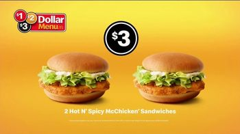 McDonald's $1 $2 $3 Dollar Menu TV Spot, 'Hot N' Spicy McChicken Sandwich: The Same' - Thumbnail 9