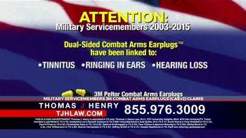 Thomas J. Henry Injury Attorneys TV Spot, '3M Earplug Military Hearing Loss Claims' - Thumbnail 1