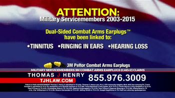 Thomas J. Henry Injury Attorneys TV Spot, '3M Earplug Military Hearing Loss Claims' - Thumbnail 2