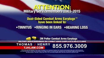 Thomas J. Henry Injury Attorneys TV Spot, '3M Earplug Military Hearing Loss Claims' - Thumbnail 3