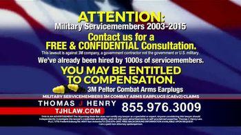 Thomas J. Henry Injury Attorneys TV Spot, '3M Earplug Military Hearing Loss Claims' - Thumbnail 6