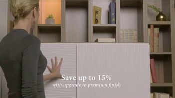 California Closets Finish Upgrade Event TV Spot, 'Exciting Colors and Accessories' - Thumbnail 3