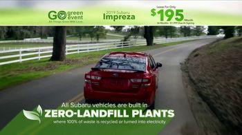 Subaru Go Green Event TV Spot, 'Impreza: Zero-Land Fill' [T2] - Thumbnail 4