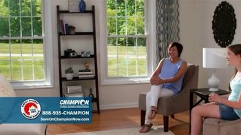 Champion Windows TV Spot, \'Comfortable Year Round: Buy One, Get One Half Off\'