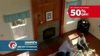Champion Windows TV Spot, 'Comfortable Year Round: Buy One, Get One Half Off' - Thumbnail 3