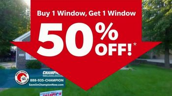 Champion Windows TV Spot, 'Comfortable Year Round: Buy One, Get One Half Off' - Thumbnail 4