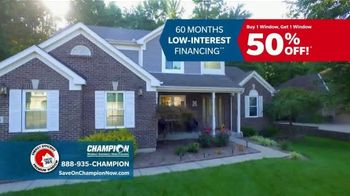 Champion Windows TV Spot, 'Comfortable Year Round: Buy One, Get One Half Off' - Thumbnail 5