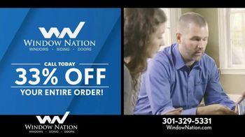 Window Nation 33% Off Sale TV Spot, 'Free Blinds'