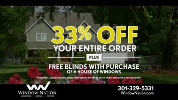 Window Nation 33 Percent Off Sale TV Spot, 'Free Blinds' - Thumbnail 6