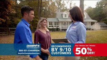Champion Windows TV Spot, 'Time to Replace Your Windows'