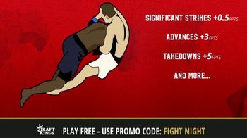DraftKings TV Spot, '1-Day Fantasy MMA' - 3 commercial airings
