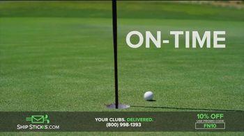 Ship Sticks TV Spot, 'Send Your Golf Clubs Ahead: 10%' - Thumbnail 8