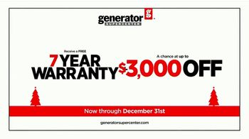 Generator Supercenter TV Spot, 'Power Up Your Holiday: Stocking Discounts' - Thumbnail 7