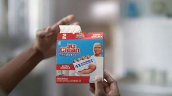 Mr. Clean Magic Eraser TV Spot, 'Cleaning Tip: Kitchen and Bathroom Messes' - Thumbnail 3