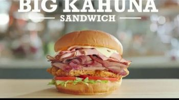 Arby's King's Hawaiian Big Kahuna Sandwich TV Spot, 'What's on It' Featuring H. Jon Benjamin, Song by YOGI - Thumbnail 5