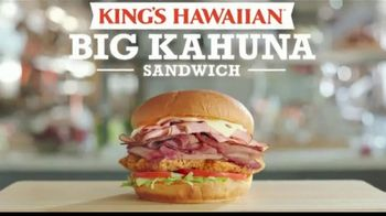Arby's King's Hawaiian Big Kahuna Sandwich TV Spot, 'What's on It' Featuring H. Jon Benjamin, Song by YOGI - 1106 commercial airings