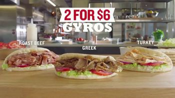 Arby's 2 for $6 Gyros TV Spot, 'Two Parts' Featuring H. Jon Benjamin, Song by YOGI - Thumbnail 7