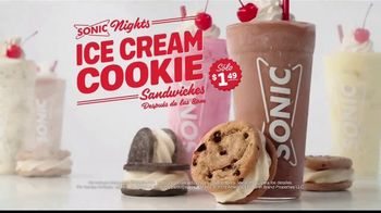Sonic Drive-In Ice Cream Cookie Sandwiches TV Spot, 'El gusto es todo tuyo' [Spanish]