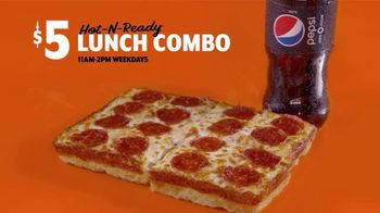 Little Caesars Pizza $5 Hot-N-Ready Lunch Combo TV Spot, 'Only $4 For a Limited Time' - Thumbnail 3