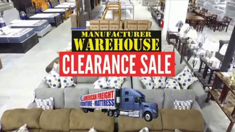 American Freight Manufacturer Warehouse Clearance Sale Commercial Don Just Rent Ispot