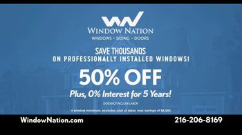 Window Nation TV Spot, 'We Have Your Back: Half Off' - Thumbnail 8