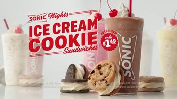 Sonic Nights TV Spot, 'Ice Cream Cookie Sandwiches: Cargs' - Thumbnail 9