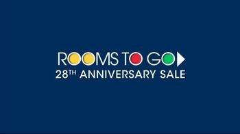 Rooms to Go Anniversary Sale TV Spot, 'Sectional and Matching Ottoman' - Thumbnail 1