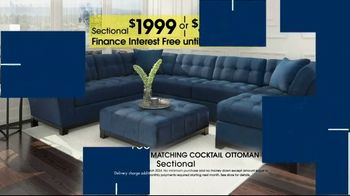 Rooms to Go Anniversary Sale TV Spot, 'Sectional and Matching Ottoman' - Thumbnail 9